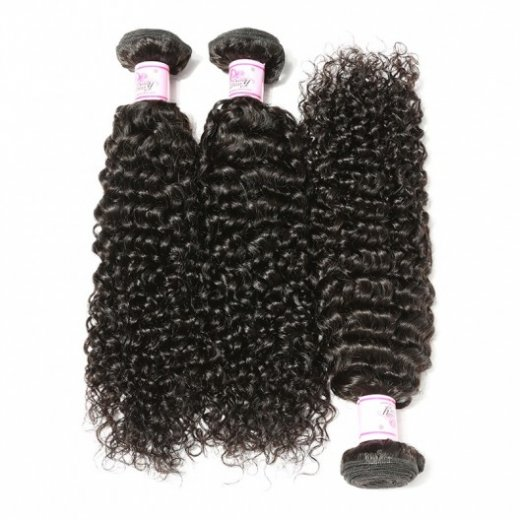 7A Malaysian Jerry Curly Virgin Hair 3Bundles Natural Color Beautyhairs
