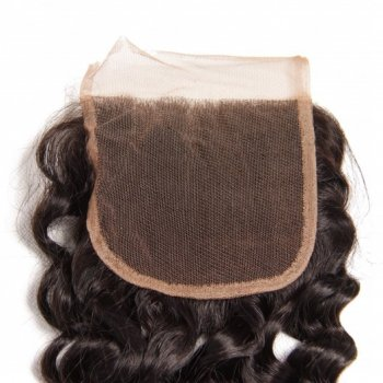 Deep Wave Lace Closure with 4 Bundles Virgin Hair Beautyhairs