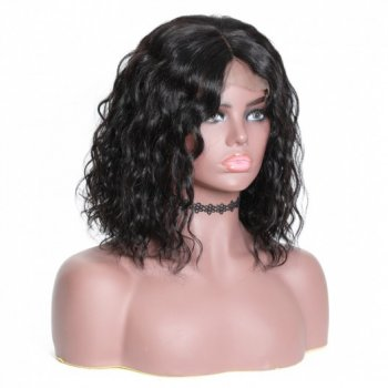 Water Wave Bob 13x4 Human Hair Lace Front Wigs For Women Beautyhairs