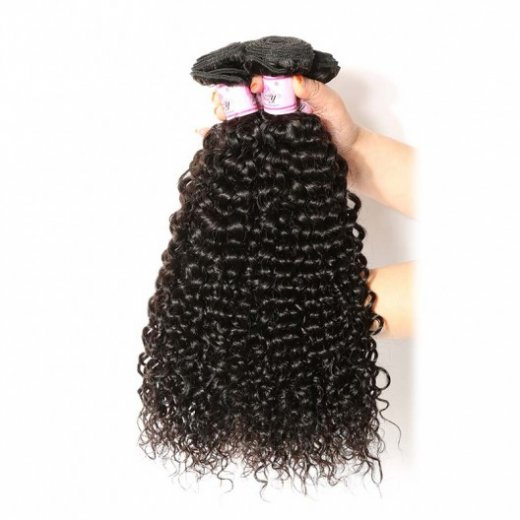 Virgin Peruvian Hair Jerry Curly 3Bundles Beautyhairs