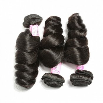 Brazilian Loose Wave Virgin Hair 3Bundles Natural Color Beautyhairs