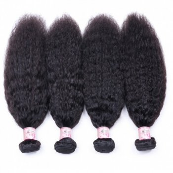 Indian Afro Kinky Straight Hair 4 Bundles Sew In Virgin Hair Extensions Beautyhairs