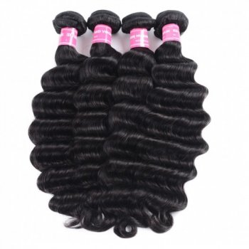 Malaysian Loose Deep Wave 4Bundles 100% Virgin Human Hair Beautyhairs