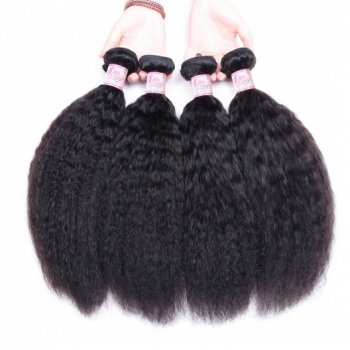 Malaysian Yaki Kinky Straight Hair 4 Bundles Pure Virgin Hair Beautyhairs
