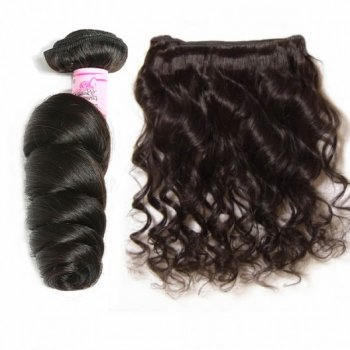 Virgin Indian Hair Loose Wave Weft 3Bundles Beautyhairs