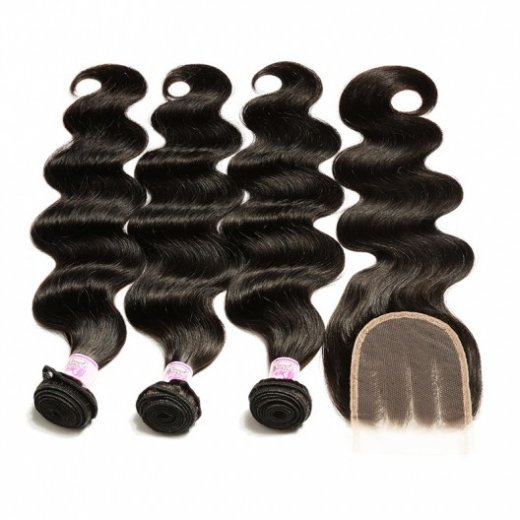 3Bundles Peruvian Body Wave Hair With Lace Closure African American Beautyhairs