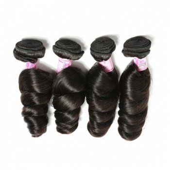 4pcs/pack Indian Loose Wave Virgin Human Hair Weave Beautyhairs