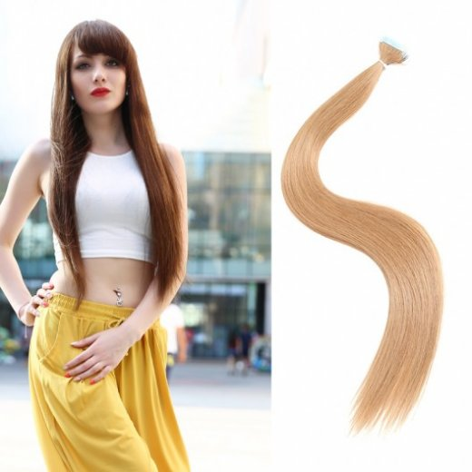 50g Straight Pu Tape Remy Hair Extensions 9 Colors Beautyhairs