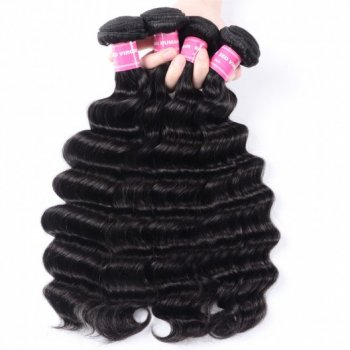 4Bundles Loose Deep Wave Peruvian Human Hair Natural Color Beautyhairs