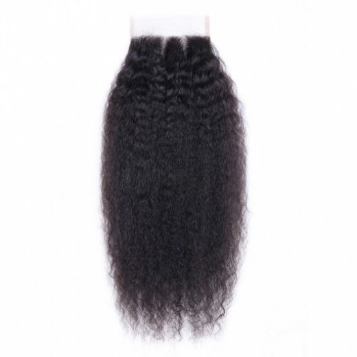 1PC Kinky Straight Closure 4x4 Lace Closure 100% Human Hair Beautyhairs