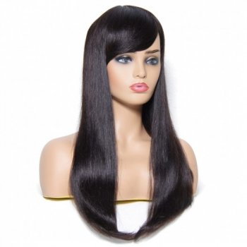 Long Straight Wigs With Bangs Styles 100% Human Hair Beautyhairs