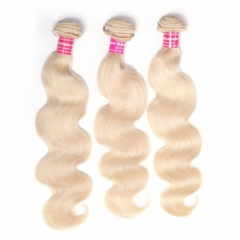 Blonde 613 Hair Weave 3 Bundles Body Wave Virgin Human Hair Weft Beautyhairs