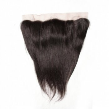 Brazilian Straight Hair Lace Frontal Closure With 4Bundles Natural Color Beautyhairs