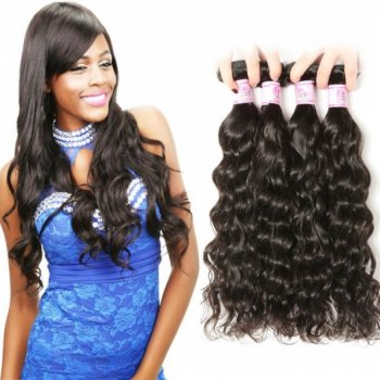 Indian Virgin Human Natural Wave Hair 4Bundles Natural Color Beautyhairs