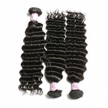 Deep Wave Brazilian Hair 3Bundles African American Hairstyle Beautyhairs