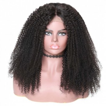 360 Lace Frontal Kinky Curly 180% Density Human Hair Wigs Beautyhairs