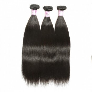 3Bundles Indian Straight Virgin Human Hair Weaves Beautyhairs