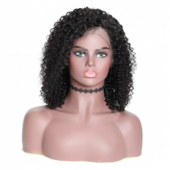 Human Hair 13x4 Lace Front Bob Wigs Jerry Curly 180% Density Beautyhairs