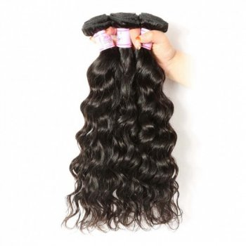 Indian Natural Wave Virgin Hair Weave 3Bundles Human Hair Beautyhairs
