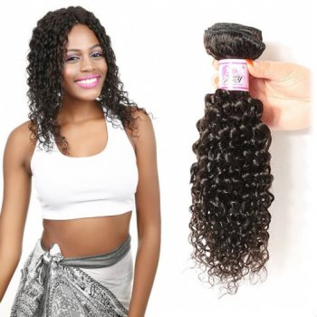 Virgin Curly Hair Weave Unprocessed Human Hair 1Bundle Beautyhairs