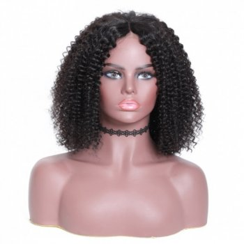 100% Human Hair Lace Front Bob Wigs Kinky Curly Hair For Women Beautyhairs