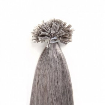 Grey Color 80# Keratin Fusion U Tip Hair Extensions Beautyhairs