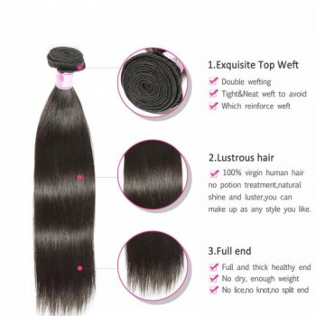 Virgin Peruvian Hair Straight Human Hair 3Bundles Beautyhairs