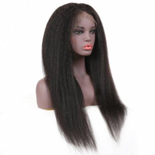 Best Kinky Straight Lace Front Wig Virgin Human Hair Beautyhairs