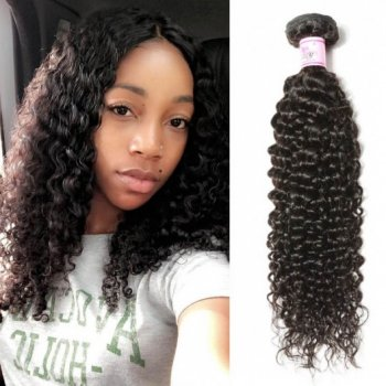 Malaysian Jerry Curly Human Hair 3Bundles Weft Natural Color Beautyhairs