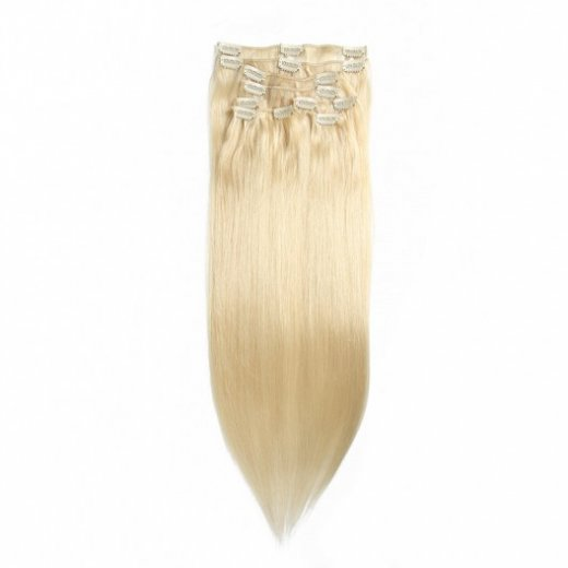 100G/Pack Blonde Clip In Human Hair Straight Remy Hair Extensions Beautyhairs