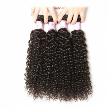 Peruvian Jerry Curly Hair 4Bundles Weft Natural Color beautyhairs