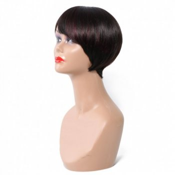 Short Bob Wigs With Bangs 100% Human Virgin Hair Beautyhairs