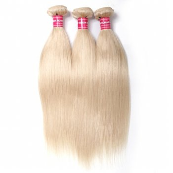 613# Blonde Hair 3Bundles Straight Human Hair Weave Beautyhairs