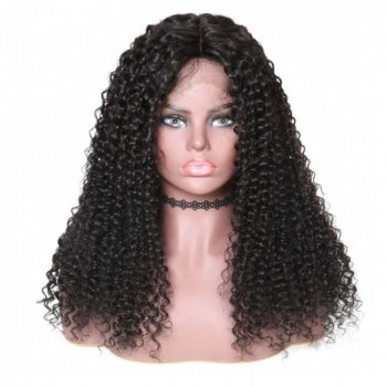 Lace Front Long Jerry Curly 150% Density Human Hair Wigs On Sale Beautyhairs