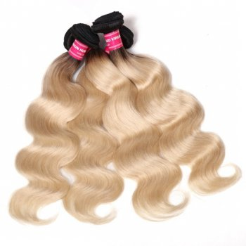 T1b/613 Hair Color Body Wave 4Bundles Ombre Human Hair Weave Beautyhairs