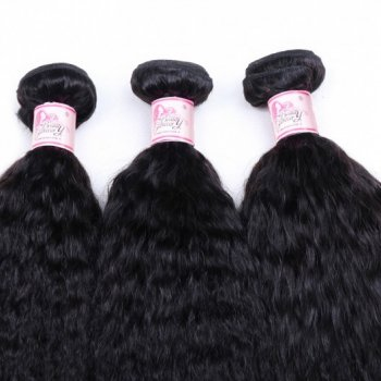 Malaysian Kinky Straight Hair Weave 3 Bundle Deals Remy Yaki Hair Beautyhairs
