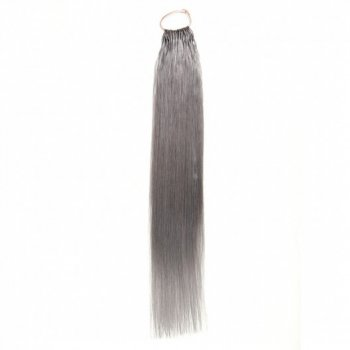 80# Grey Color Cotton String Remy Hair Extension 50g/pack Beautyhairs