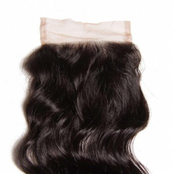 Malaysian Natural Wave Lace Closure With 3 Bundles Human Hair Weave Beautyhairs