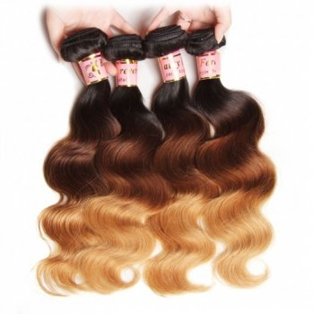 Peruvian Ombre Body Wave Human Virgin Hair 4Bundles Beautyhairs
