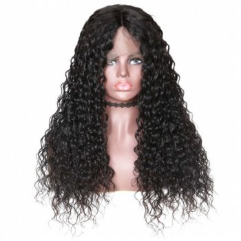 360 Lace Frontal Long Water Wave 180% Density Human Hair Wigs On Sale Beautyhairs