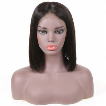Lace Front Short Bob 150% Density Human Hair Wigs Beautyhairs