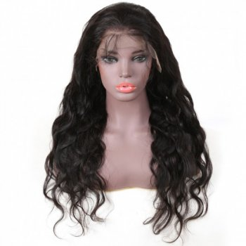 Pre-plucked Body Wave Lace Front Wig 100% Human Hair Natural Black Beautyhairs