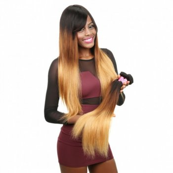 Peruvian Ombre Straight Human Hair Weave 3Bundles Beautyhairs