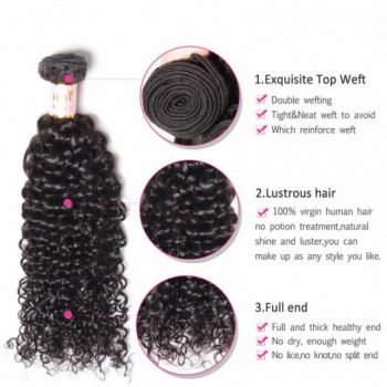 Peruvian Virgin Remy Jerry Curly Hair 3Bundles Beautyhairs