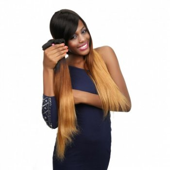 Virgin Malaysian Human Hair Weave 4Bundles Ombre Straight Beautyhairs