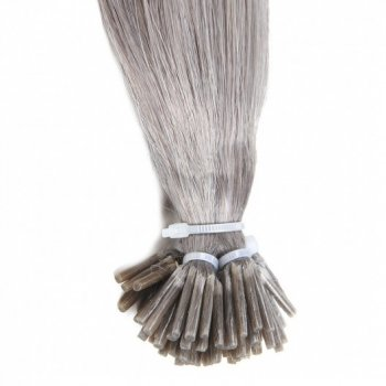 I Tip Fusion Hair Extension Light Grey 80# Remy Human Hair Weave Beautyhairs