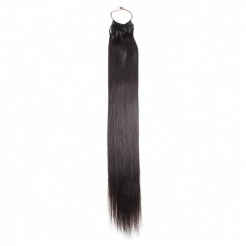 Natural Black 1B# Straight String Human Hair Extensions Beautyhairs
