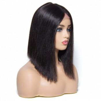 100% Human Hair Blunt Cut Bob Wig For Women 4 Colors Beautyhairs