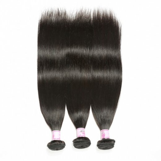Brazilian Hair Straight Wavy Virgin Hair 3Bundles Deals 1B Color Beautyhairs