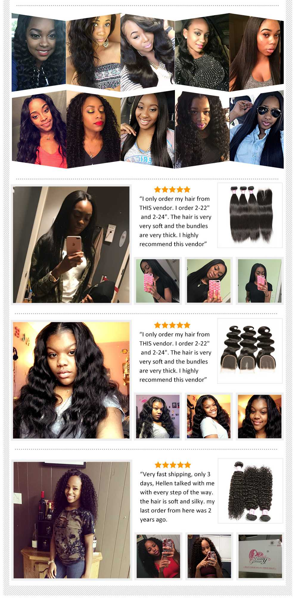 3Bundles Remy Human Hair Weaving
